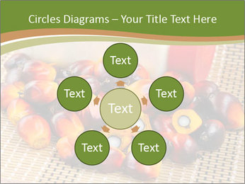 Close up of fresh oil palm fruits PowerPoint Templates - Slide 78