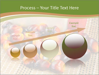 Close up of fresh oil palm fruits PowerPoint Templates - Slide 87