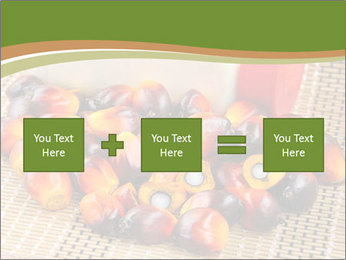Close up of fresh oil palm fruits PowerPoint Templates - Slide 95