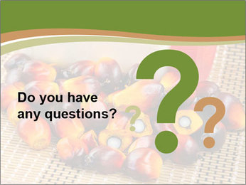 Close up of fresh oil palm fruits PowerPoint Templates - Slide 96