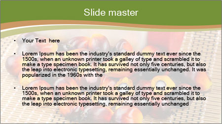 Close up of fresh oil palm fruits PowerPoint Template - Slide 2