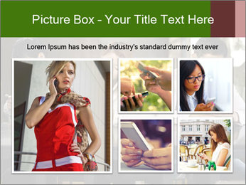 Young people playing with smartphones PowerPoint Templates - Slide 19
