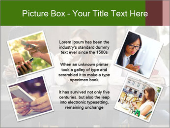 Young people playing with smartphones PowerPoint Template - Slide 24