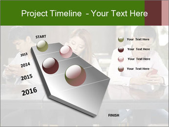 Young people playing with smartphones PowerPoint Templates - Slide 26