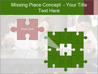Young people playing with smartphones PowerPoint Templates - Slide 45
