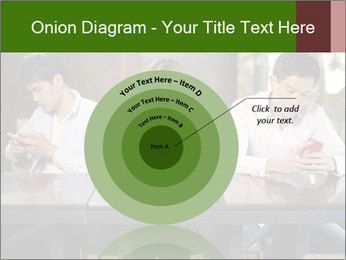 Young people playing with smartphones PowerPoint Templates - Slide 61