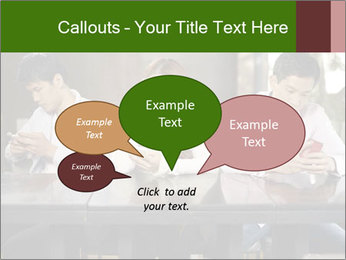Young people playing with smartphones PowerPoint Templates - Slide 73