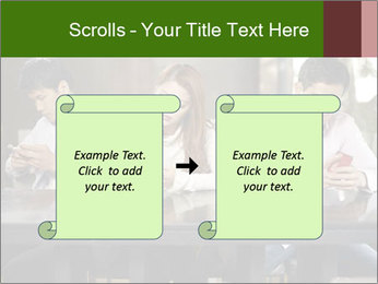 Young people playing with smartphones PowerPoint Templates - Slide 74