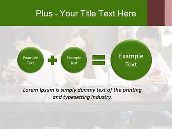 Young people playing with smartphones PowerPoint Templates - Slide 75