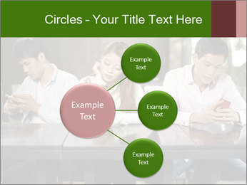 Young people playing with smartphones PowerPoint Templates - Slide 79