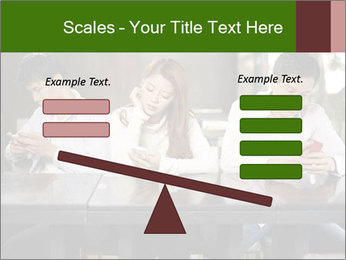 Young people playing with smartphones PowerPoint Templates - Slide 89