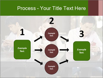 Young people playing with smartphones PowerPoint Templates - Slide 92