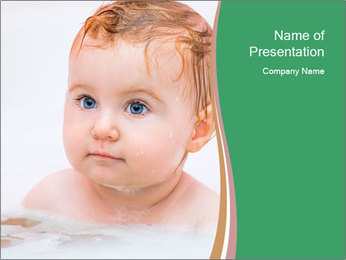 Cute 1 year-old boy PowerPoint Template - Slide 1