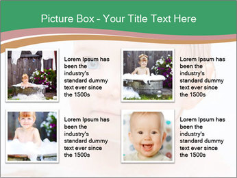 Cute 1 year-old boy PowerPoint Template - Slide 14