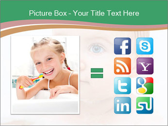 Cute 1 year-old boy PowerPoint Template - Slide 21