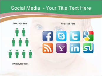 Cute 1 year-old boy PowerPoint Template - Slide 5