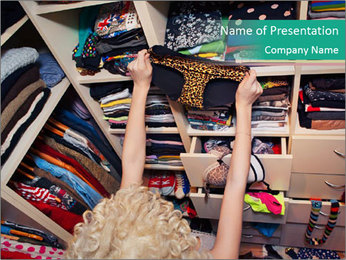 Getting dressed concept PowerPoint Template