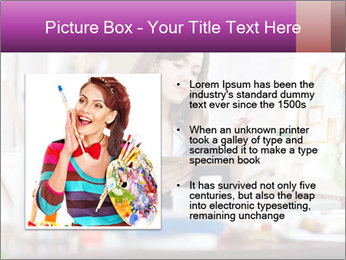 Woman dreams on canvas PowerPoint Templates - Slide 13