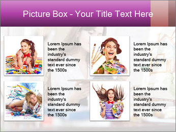 Woman dreams on canvas PowerPoint Templates - Slide 14