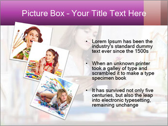 Woman dreams on canvas PowerPoint Templates - Slide 17