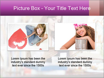 Woman dreams on canvas PowerPoint Templates - Slide 18