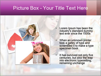 Woman dreams on canvas PowerPoint Templates - Slide 20
