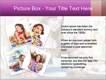 Woman dreams on canvas PowerPoint Templates - Slide 23
