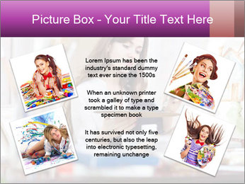 Woman dreams on canvas PowerPoint Templates - Slide 24