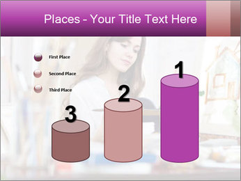 Woman dreams on canvas PowerPoint Templates - Slide 65