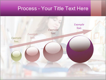 Woman dreams on canvas PowerPoint Templates - Slide 87