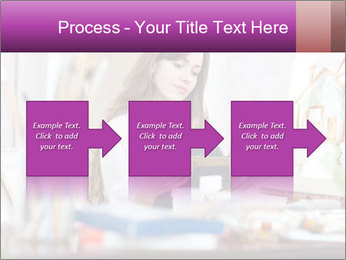 Woman dreams on canvas PowerPoint Templates - Slide 88