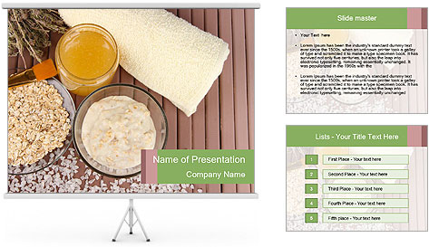 Homemade facial mask PowerPoint Template