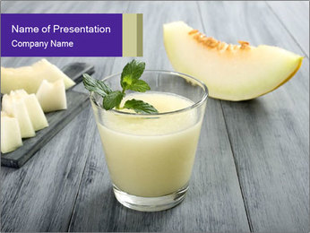 Melon smoothie PowerPoint Templates - Slide 1