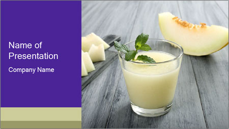 Melon smoothie PowerPoint Template