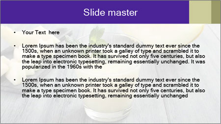 Melon smoothie PowerPoint Template - Slide 2