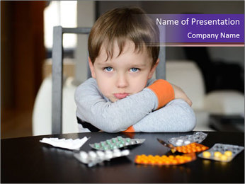 Sad preschooler PowerPoint Template