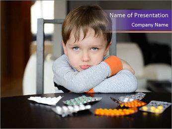 Sad preschooler PowerPoint Templates - Slide 1