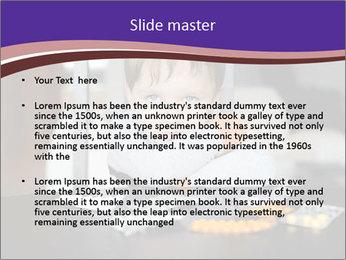 Sad preschooler PowerPoint Template
