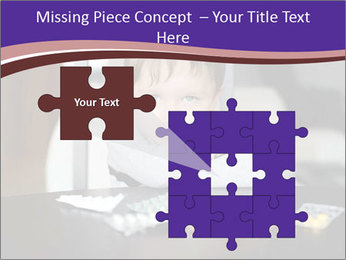 Sad preschooler PowerPoint Template - Slide 45