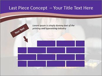 Sad preschooler PowerPoint Template - Slide 46