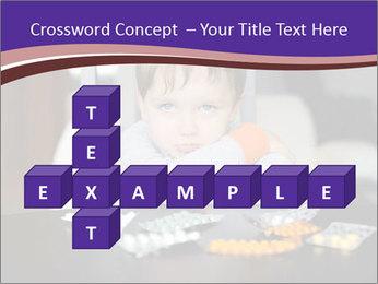 Sad preschooler PowerPoint Template - Slide 82