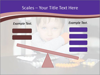 Sad preschooler PowerPoint Template - Slide 89