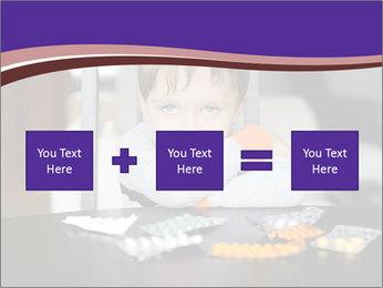 Sad preschooler PowerPoint Template - Slide 95