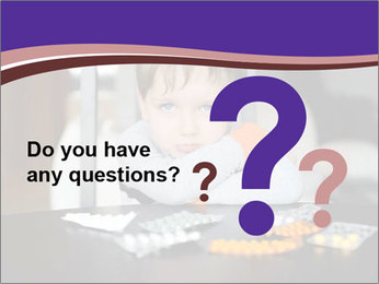 Sad preschooler PowerPoint Template - Slide 96