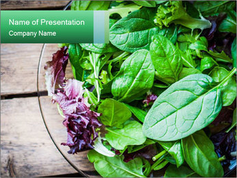 Fresh green salad PowerPoint Template