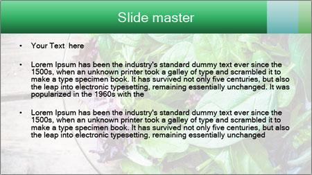 Fresh green salad PowerPoint Template - Slide 2
