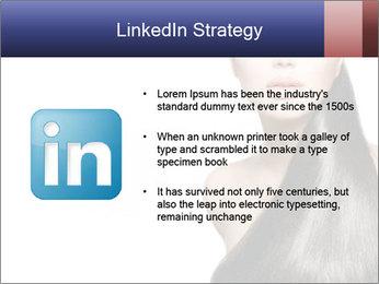 Beauty Brunette Fashion Model PowerPoint Template - Slide 12