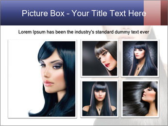 Beauty Brunette Fashion Model PowerPoint Template - Slide 19