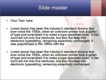 Beauty Brunette Fashion Model PowerPoint Template - Slide 2