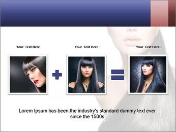 Beauty Brunette Fashion Model PowerPoint Template - Slide 22